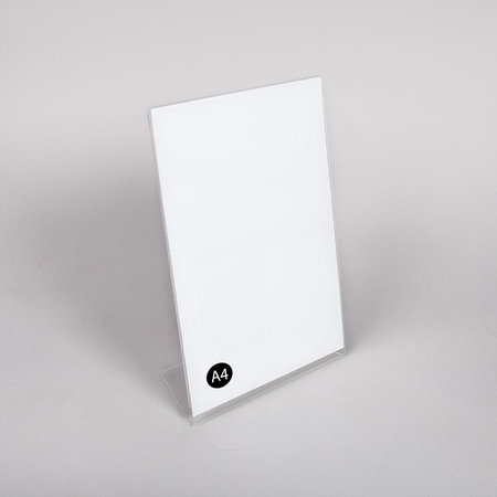 Akrylskylt  - A4 L-fot