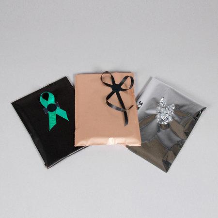 Foliepåse - Blanka/Guld XS