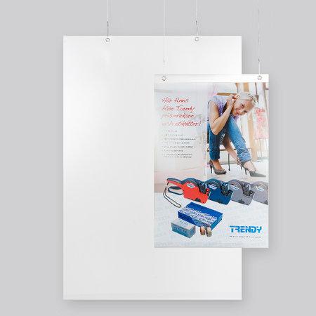 Plastficka frihängande - A4