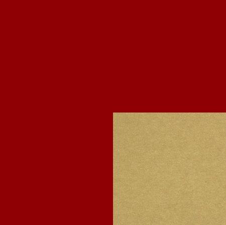 PRESENTPAPPER - Röd/Guld 18cm
