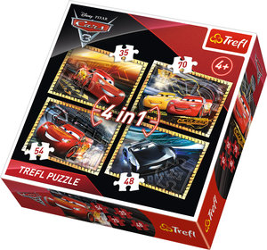 Cars 4x1 Trefl