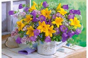 Bouquet of Lilies and Bellflowers 1000 Bitar Castorland