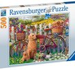 Cute dogs in the garden 500 Bitar Ravensburger
