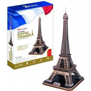 Eiffel Tower 82 Bitar 3D Pussel Cubic Fun Utgår!