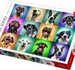 Funny Dog Portraits  1000 Bitar Trefl