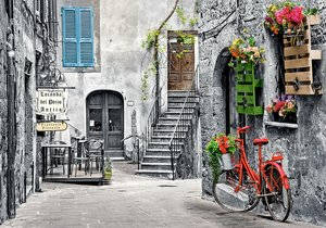 Charming alley with red bicycle 500 Bitar Castorland