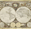 Historical map of the world 2000 bitar Schmidt