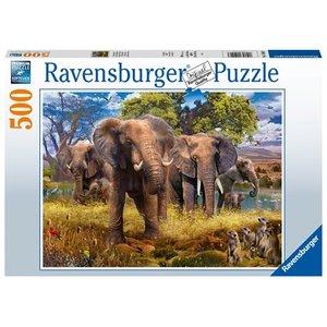 Elephant family 500 Bitar Ravensburger