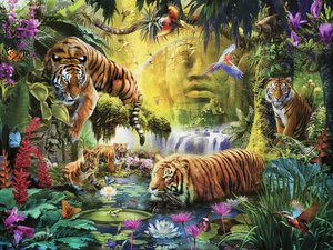 Tranquil Tigers 1500 Bitar Ravensburger