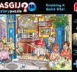 Wasgij Mystery#18 Grabbing A Quick Bite! 1000 Bitar Jumbo