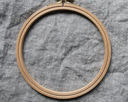 Embroidery hoop in wood