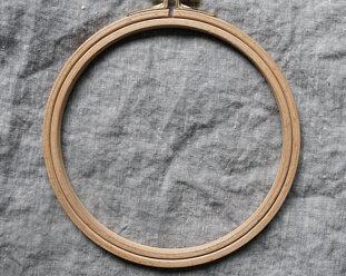 Embroidery hoop in wood