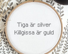Tiga är silver, killgissa är guld (Swedish)