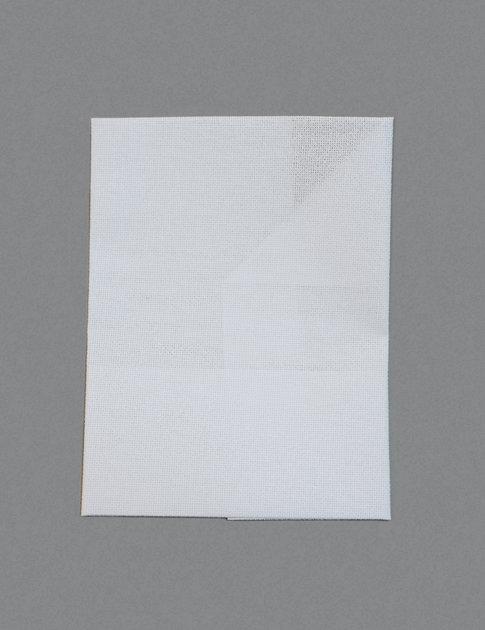 White aida fabric in  16 crosses/inch