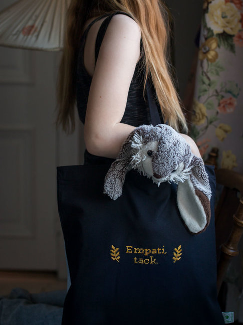 Organic lightweight Tote bag / Canvas bag in black
