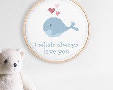 Broderikit aida – Oh, whale