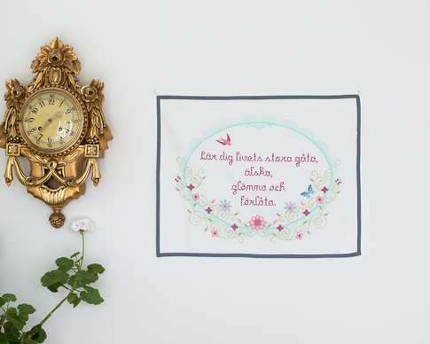 Livets gåta / Vintage spring - Cross stitch kit with aida