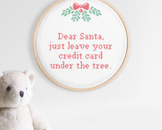Broderikit aida - Dear Santa
