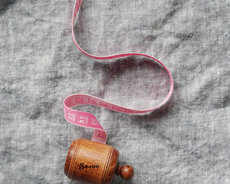 Pink wooden dressmaker's tape from Sajou