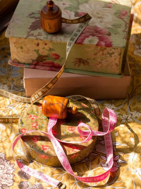 Pink wooden dressmaker's tape from Sajou