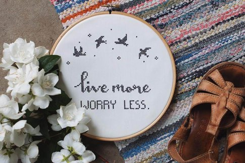 Broderikit aida - Worry less