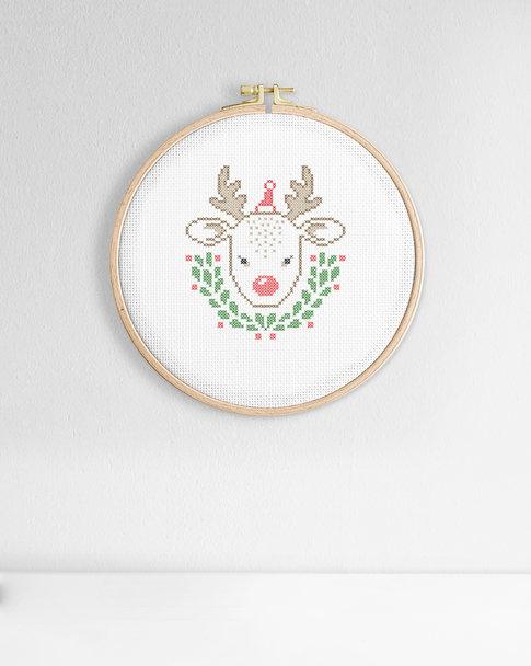 Broderikit aida - Little reindeer