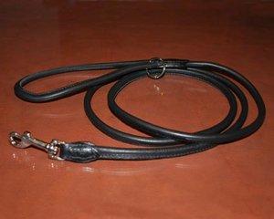 Läderkoppel, R svart 180 x Ø 3