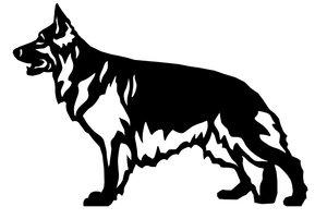 Grupp 1 - FCI  nr. 166 / Tysk Schäferhund Långhårig (Dekal)