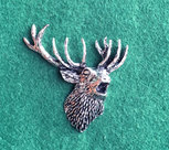 PIN Huvud Kronhjort
