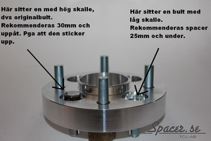 Bolt-on Spacers-X 5-bult D163 Max 5/130