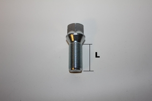 Hjulbult M12x1.75 Kona Svart