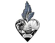 Väggdekor hjärta 'Go beyond'