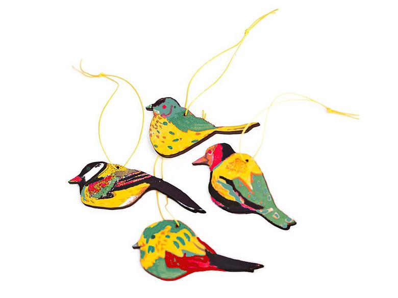 Hängen 'Fåglar' trä