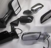 Backspeglar,  Yttre sidobackspegel i olika utförande och modeller.