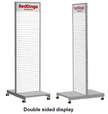 Dubbelsidig Displayvägg
