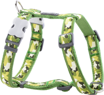 Green dog Harness Camouflage