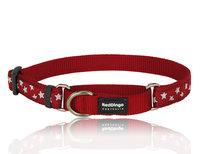Stars Martingale dog collar Red