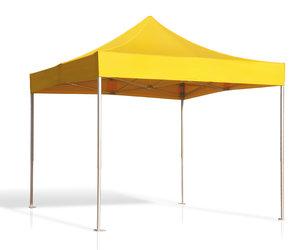 Tält, 3 x 3 m, gult, uthyrning per dygn