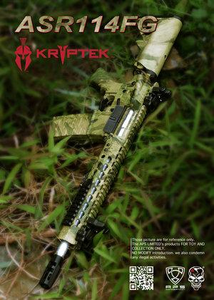 Airsoftrifle APS ASR114 Atacs AU, Low Profile Adapt Rail System Rifle