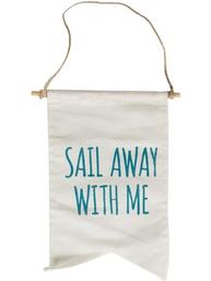 Vimpel sail away with me flagga shabby chic lantlig stil