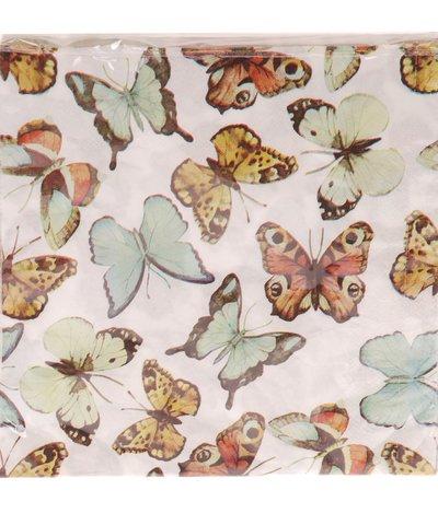 Servetter Fjärilar  romantisk  fransk lantstil shabby chic lantlig stil
