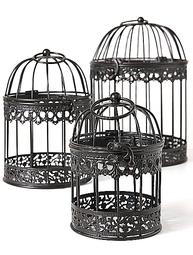 Fågelbur  3 storlekar spets shabby chic lantlig stil fransk lantstil