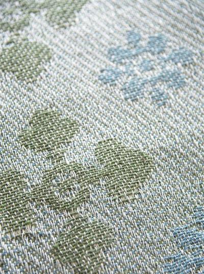 Pläd vintage vävt mosaikmönster bomull shabby chic lantlig stil