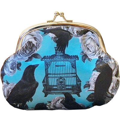 Börs med knäppe portmonnä sminkväska Ravens Van Ash
