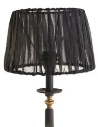 Lampskärm svart organza shabby chic lantlig stil