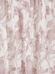 Gardinlängder rosa dimrosa med fasaner och blommor shabby chic lantlig stil