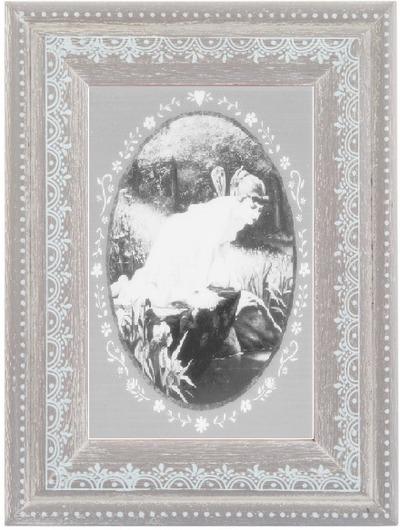Fotoram Vintage ljusgrå dekorativ hjärtbård  shabby chic lantlig stil