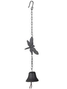 Trollslända hänge vindspel klocka gjutjärn shabby chic lantlig stil