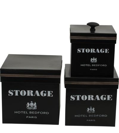 Lådor askar svarta storage förvaring 3 olika storlekar shabby chic lantlig stil