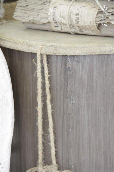 Trumma stor i trä antik stil shabby chic lantlig stil